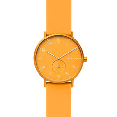 Aaren Kulør Yellow Silicone 41mm Watch