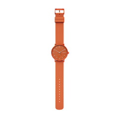 Aaren Kulør Orange Silicone 41mm Watch