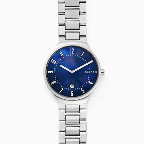 Grenen Steel Link Mother Of Pearl Watch