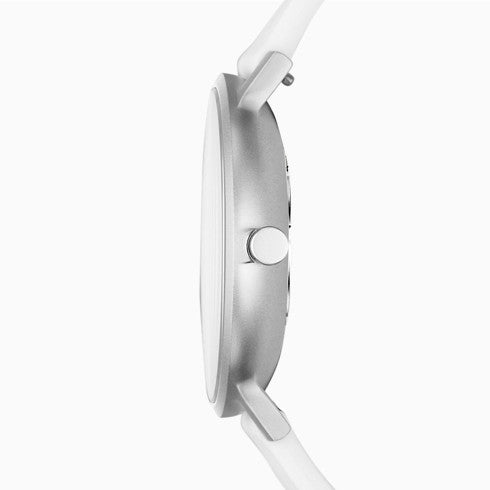 Aaren Kulør White Silicone 41mm Watch