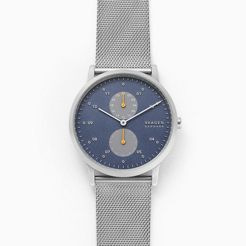 Kristoffer Silver Steel Mesh Watch