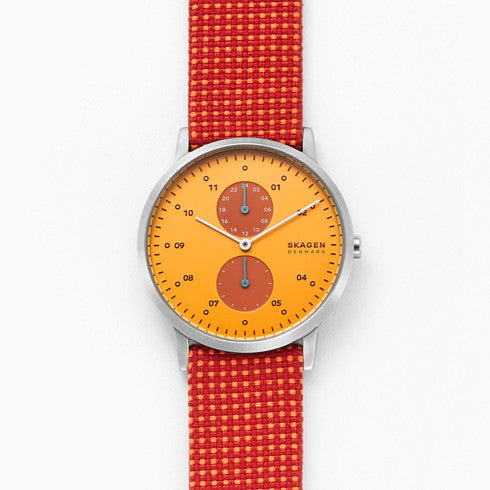 Kristoffer Red Recyclyed Woven Watch