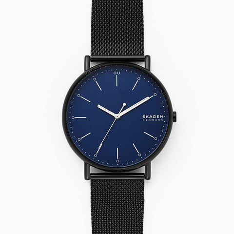 Signatur Black Steel Mesh Watch