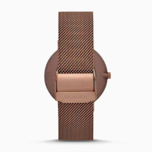 Aaren Kulor Matte Red Steel Mesh 40mm Watch