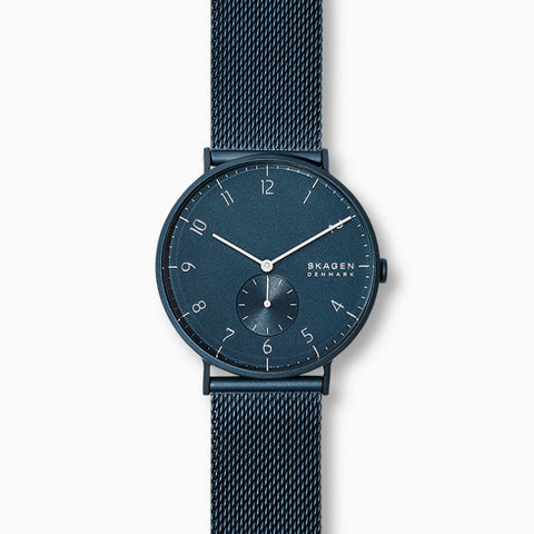 Aaren Matte Blue Steel-Mesh 40mm Watch