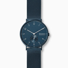 Aaren Kulor Matte Blue Steel Mesh 40mm Watch