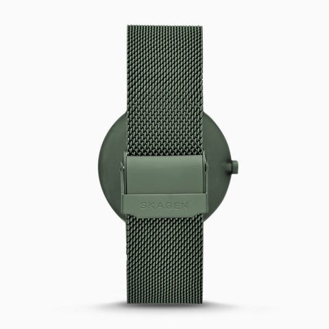 Aaren Matte Green Steel-Mesh 40mm Watch