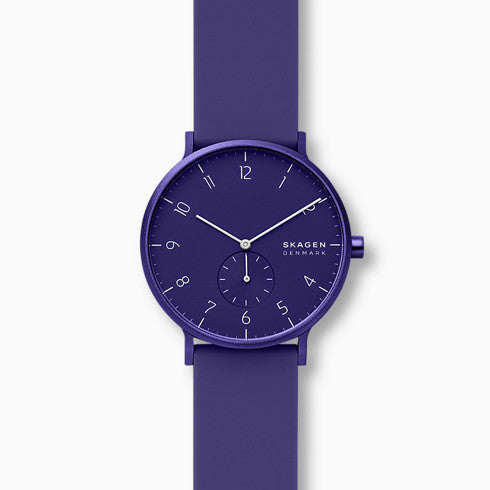 Aaren Kulor Purple Silicone 41mm Watch
