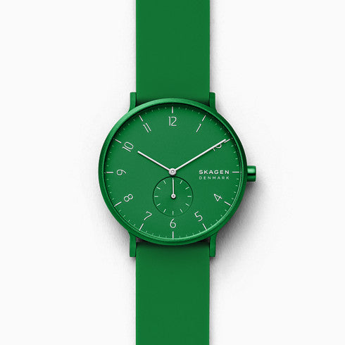 Aaren Kulor Green Silicone 41mm Watch