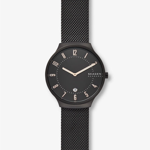 Grenen Black Steel Mesh Watch