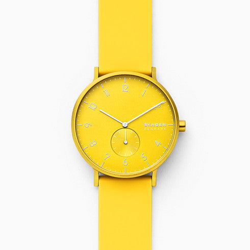 【NEW】Aaren Kulor Neon Yellow Silicone 41mm Watch