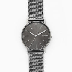 Signatur Three Hand Gray Steel Mesh Watch