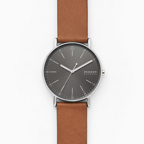 Signatur Three Hand Brown Leather Watch