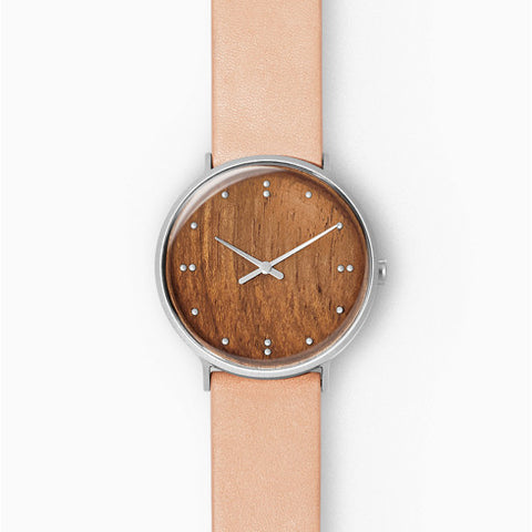 Skagen x Finn Juhl Two-Hand Brown Leather Watch