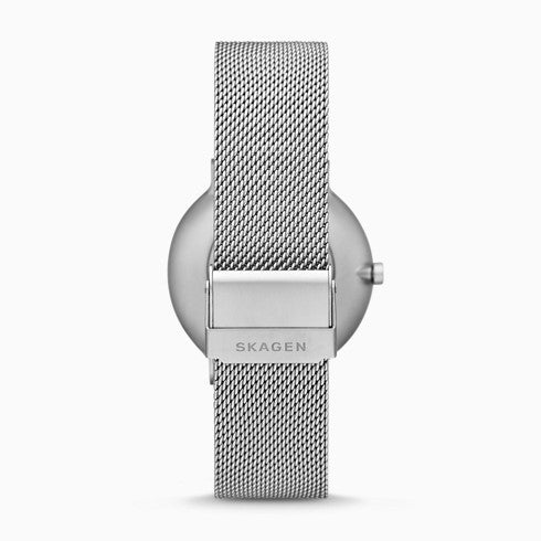 Skagen x Finn Juhl Two-Hand Silver-Tone Steel-Mesh Watch