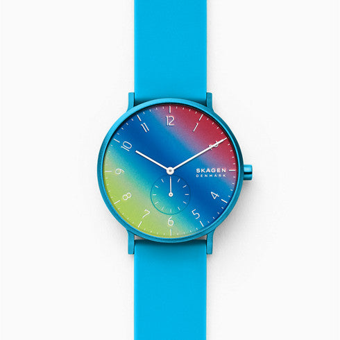 【NEW】Aaren Kulor Blue Tie Dye Silicone 41mm Watch