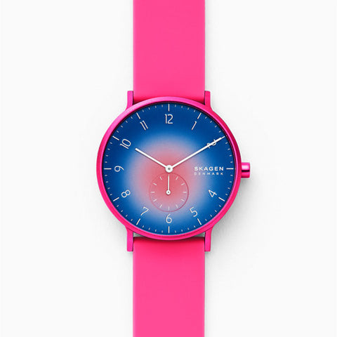 【NEW】Aaren Kulor Pink Tie Dye Silicone 41mm Watch
