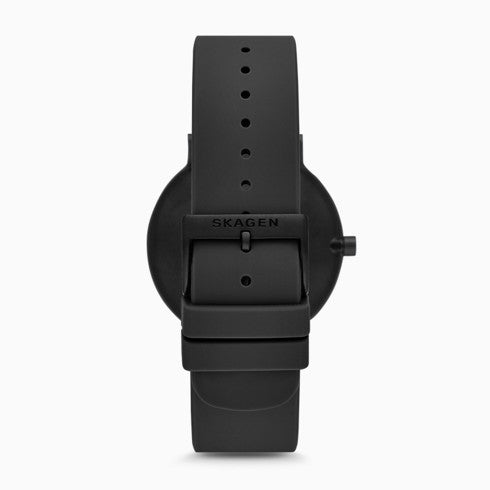 Aaren Kulor Black Ripple Silicone 41mm Watch