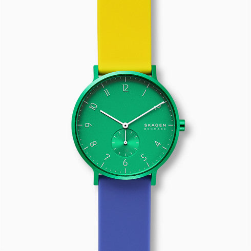 Aaren Kulor Color Blocked 41mm Watch Green Dial