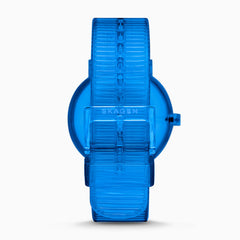 Aaren Transparent Three Hand Blue 41mm Watch