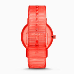 Aaren Transparent Three Hand Coral 41mm Watch