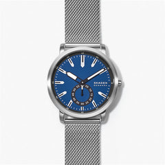 Colden Three Hand Silver Tone Steel Mesh Watch