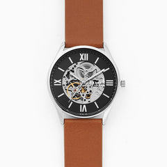 Holst Automatic Brown Leather Watch