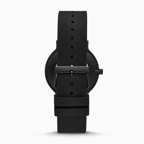 Hoptimist x Skagen Aaren Three Hand Black Silicone 41mm Watch