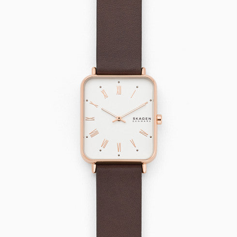 Ryle Two Hand Brown Leather Watch
