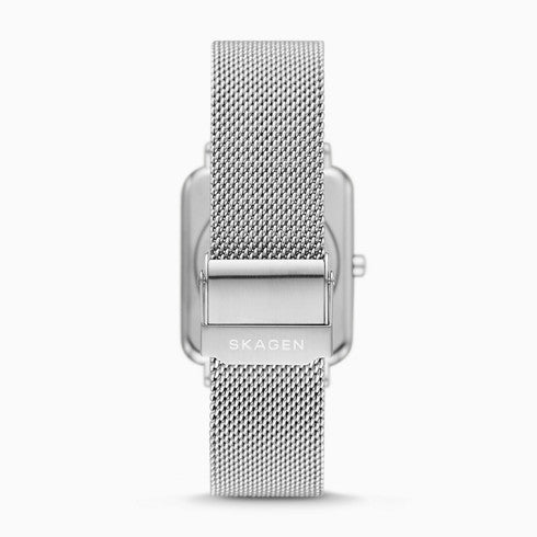 Ryle Two Hand Silver Tone Steel Mesh Watch