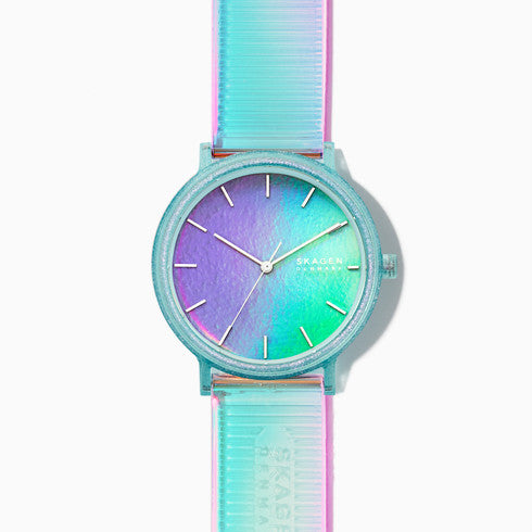 Aaren Iridescent Blue Three-Hand 41mm Watch