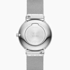 Hoptimist x Skagen Aaren Three Hand Silver Tone Steel Mesh 41mm Watch