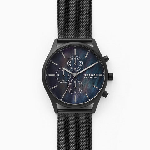 Holst Chronograph Black Steel Mesh Watch