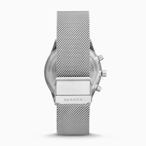 Holst Chronograph Silver Tone Steel Mesh Watch