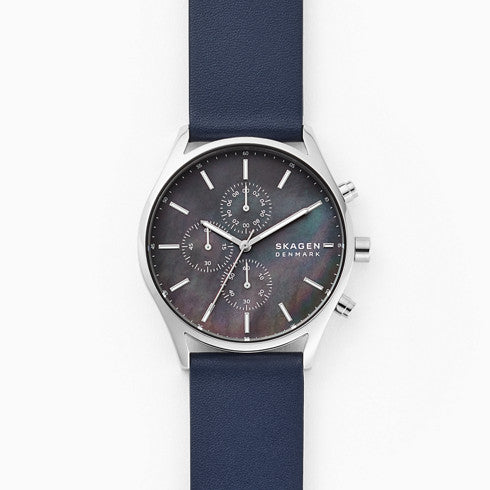 Holst Chronograph Blue Leather Watch