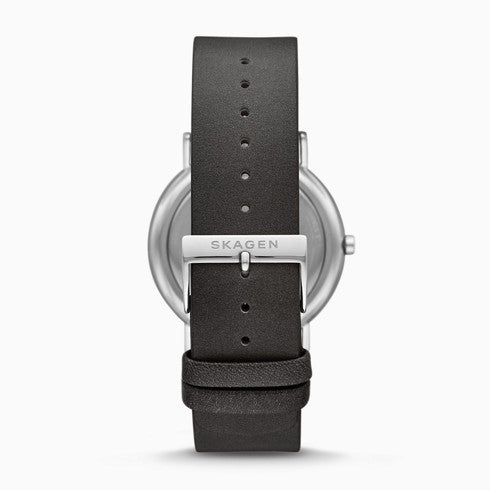 Signatur Three Hand Black Leather Watch