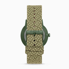 Henricksen Solar Three-Hand Date Green Recycled Woven Watch