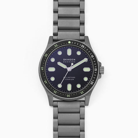 Fisk Three Hand Gray Titanium Watch