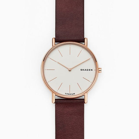 Signatur Slim Red Leather 40mm Watch