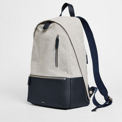 Krøyer Twill and Leather Backpack