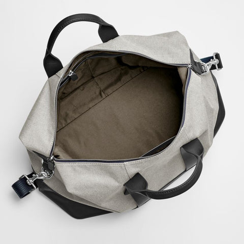 Riis Twill and Leather Duffle
