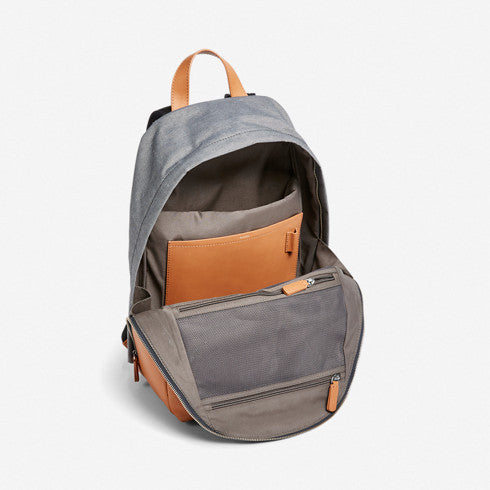 Kr?yer Recycled Twill and Leather Backpack