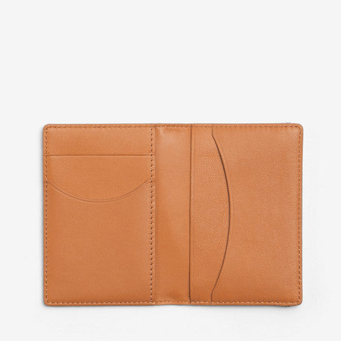 Recycled Twill and Leather Front Pocket Wallet