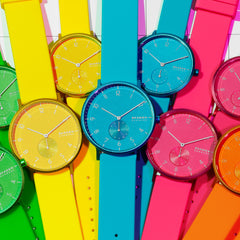【NEW】Aaren Kulor Neon Blue Silicone 36mm Watch
