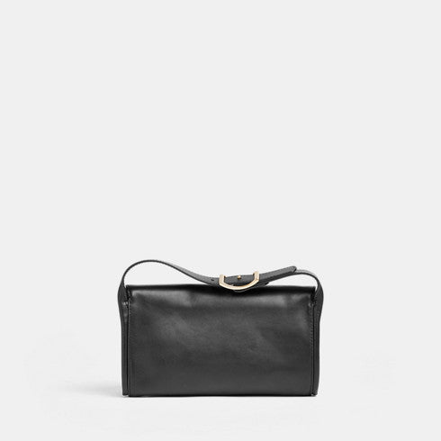 Josefa Leather Flap Clutch