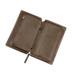 RECESSED ZIP AROUND WALLET