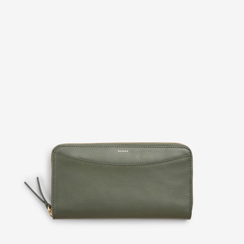 Hanne Leather Zip Accordion Wallet