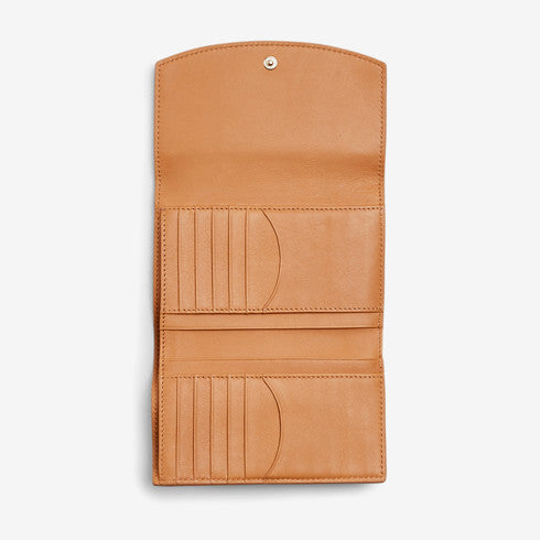 Compact Leather Flap Wallet