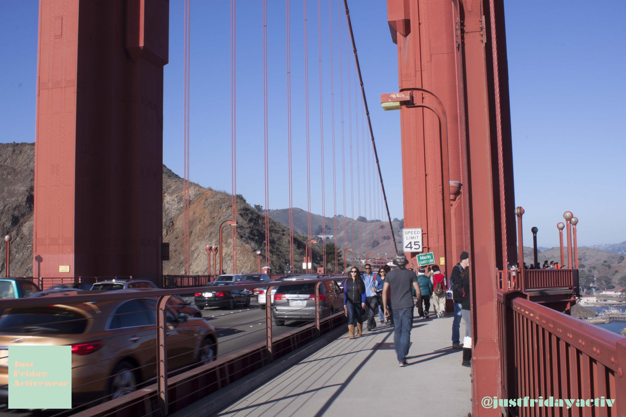 City Walk on Golden Bridge
