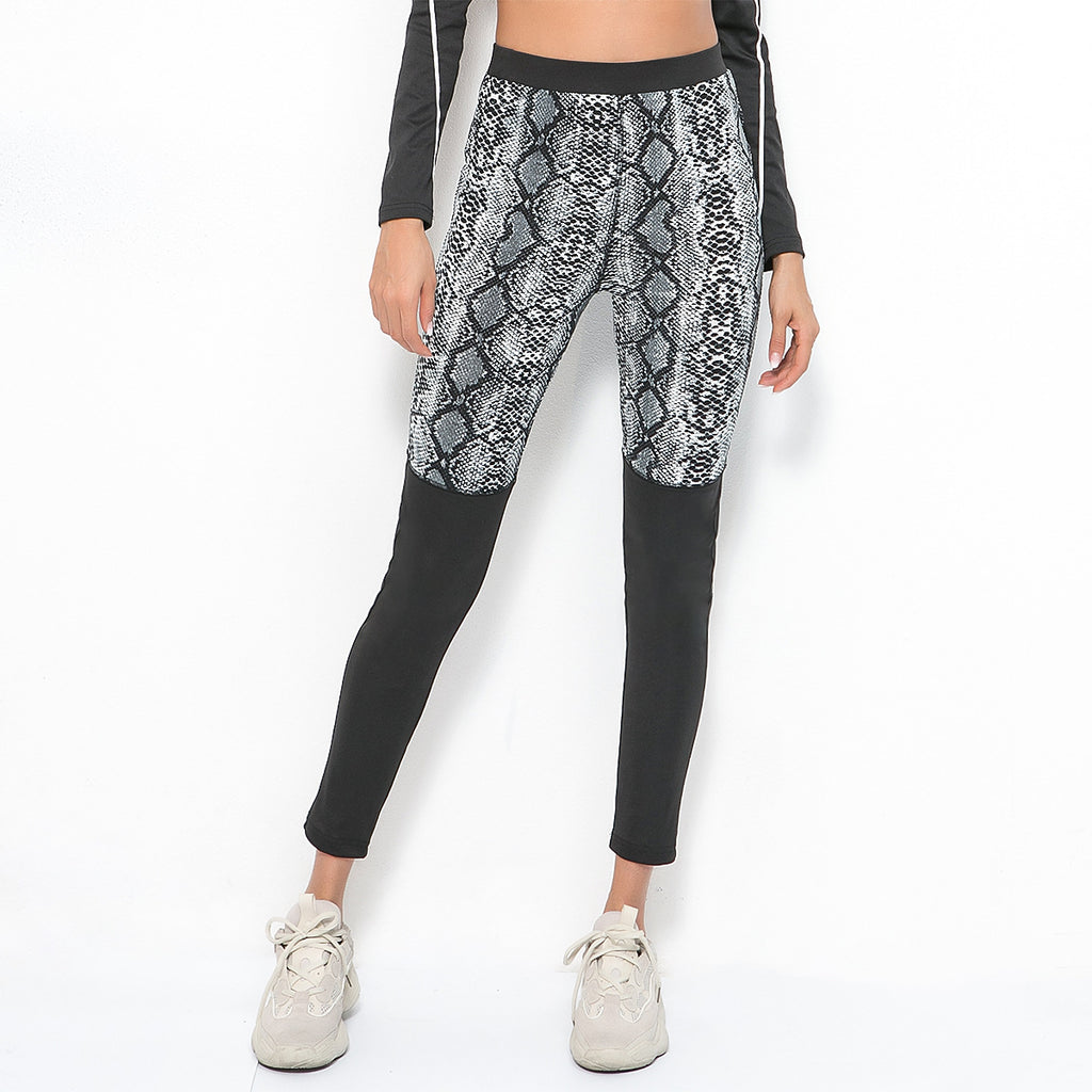 Sexy High Rise Two Tone Gym Wear Sportswear Yoga Pants Legging